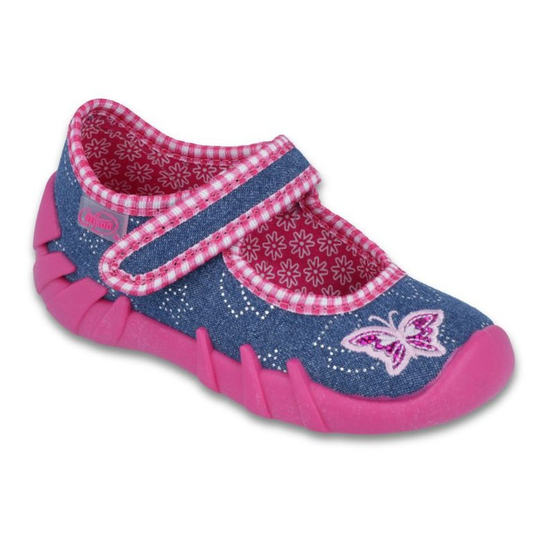 Befado obuwie dziecięce 109P164 niebieskie różowe