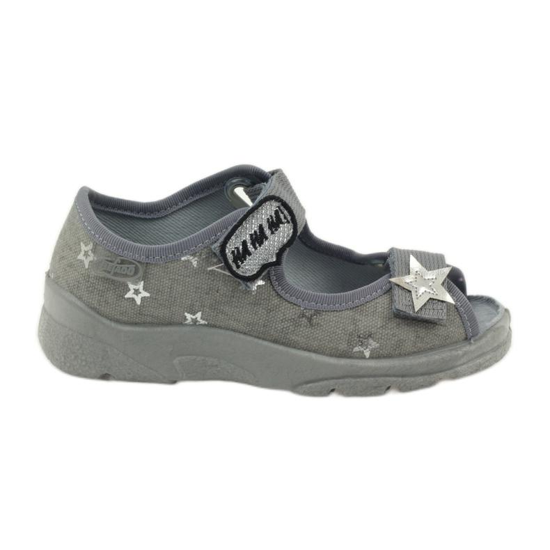 Sandałki dziewczęce Befado 969y122 szary szare