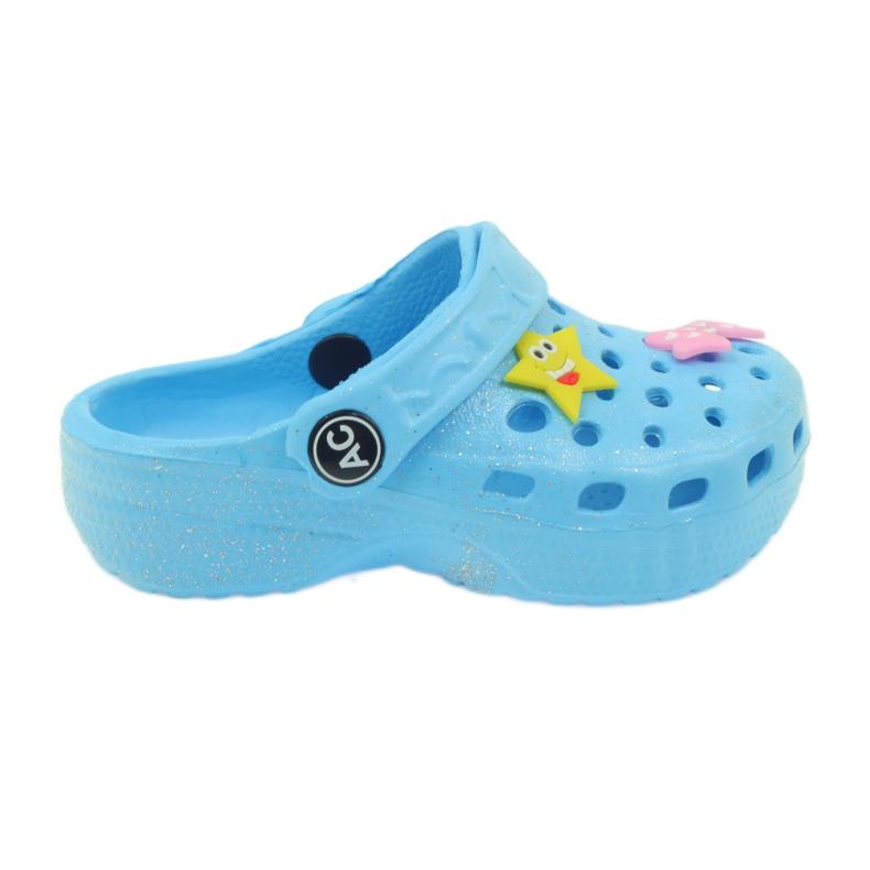 American Club Crocsy klapki kroksy niebieskie American
