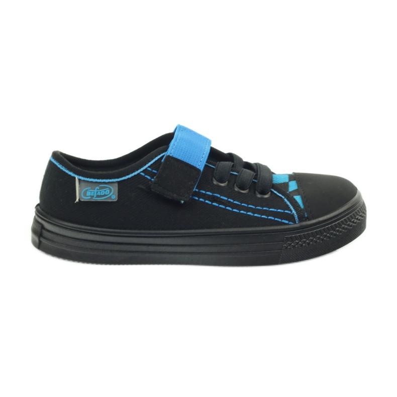 Kapcie trampki czarne Befado 429x007 niebieskie