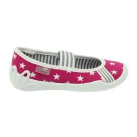 Befado obuwie dziecięce kapcie balerinki 193x063 białe różowe