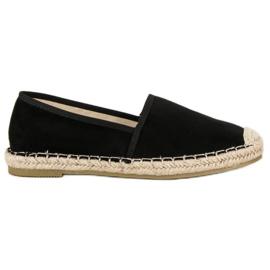 Sweet Shoes Czarne zamszowe espadryle
