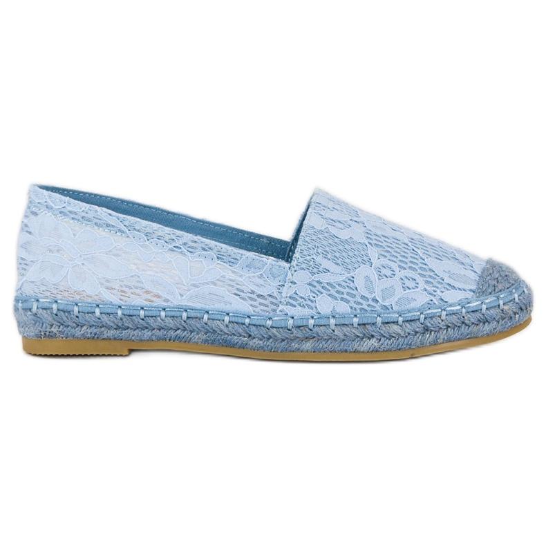 Seastar Błękitne koronkowe espadryle niebieskie