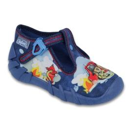 Granatowe Befado obuwie dziecięce 110P323