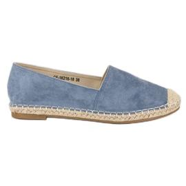 Best Shoes Niebieskie zamszowe espadryle
