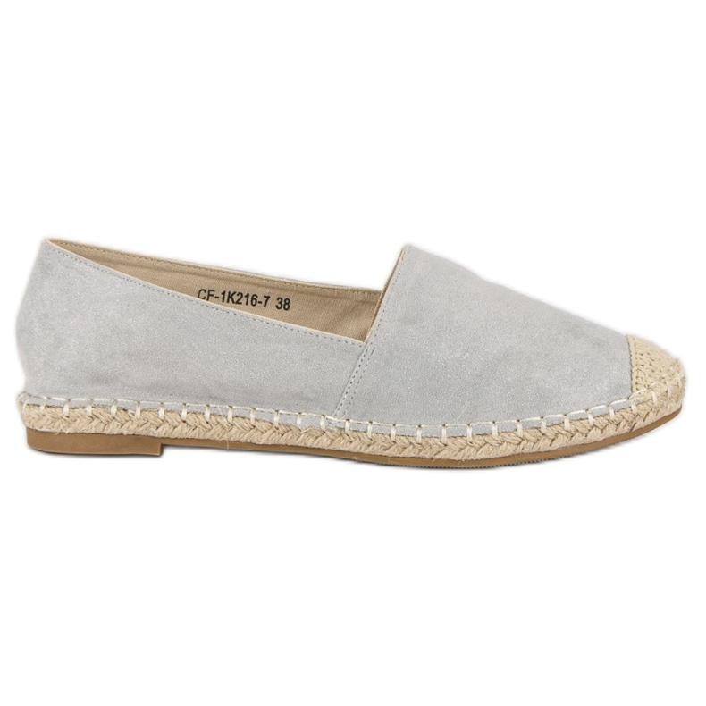 Best Shoes Szare zamszowe espadryle