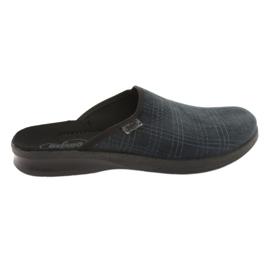 Granatowe Befado obuwie męskie pu 548M013