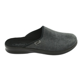 Szare Befado obuwie męskie pu 548M014