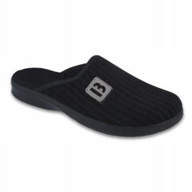 Czarne Befado obuwie męskie pu 548M015