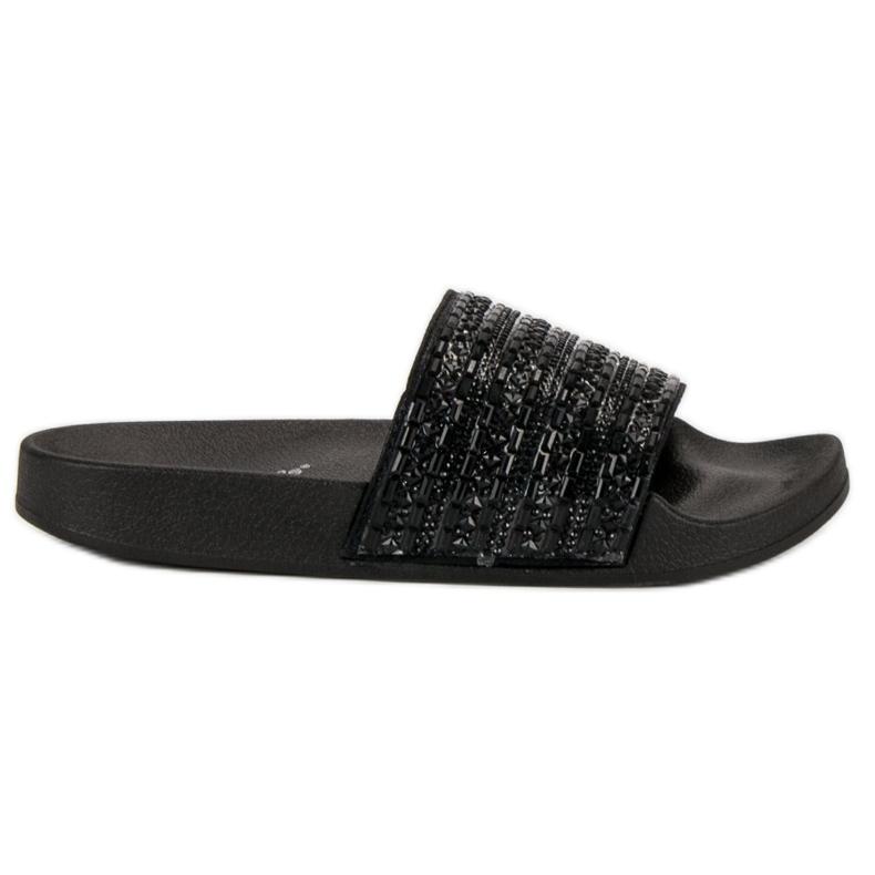 Eleganckie czarne klapki