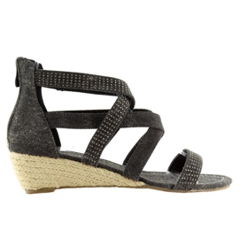Sandały espadryle czarne ME11783 Black