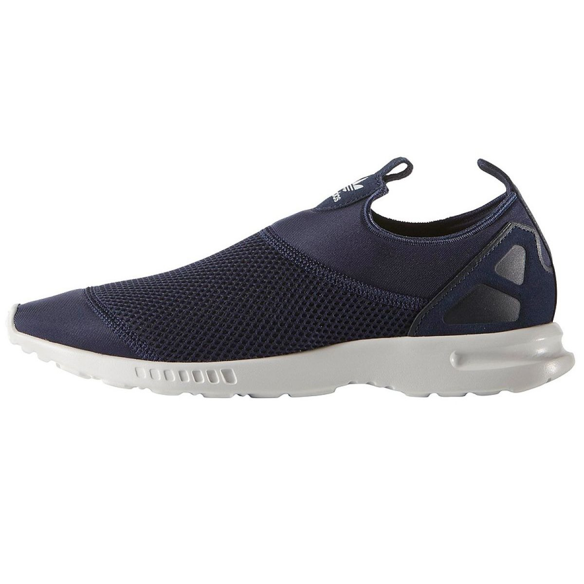 info for 08cf6 fc484 Granatowe Buty adidas Originals Zx Flux Smooth Slip On W S78958