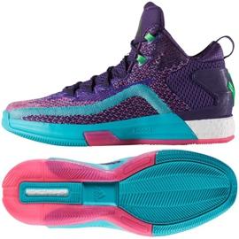 Buty koszykarskie adidas John Wall 2 Boost Prime Knit M D70028 wielokolorowe fioletowe