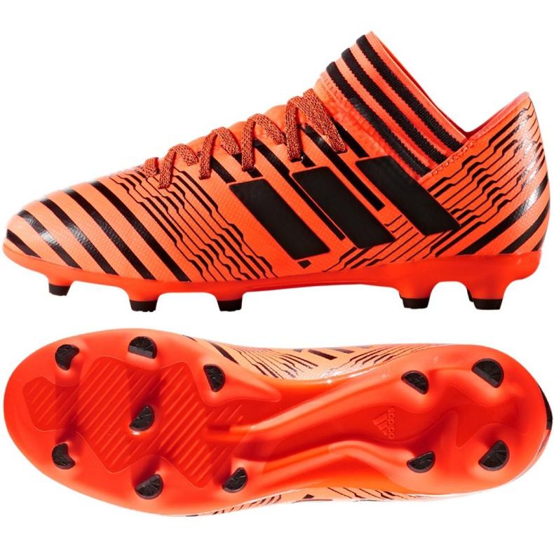 Buty piłkarskie adidas Nemeziz 17.3 Fg Jr S82428 pomarańczowe pomarańczowe
