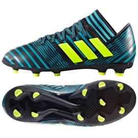 Buty piłkarskie adidas Nemeziz 17.3 Fg Jr niebieskie