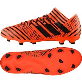 Buty piłkarskie adidas Nemeziz 17.3 Fg M S80604 pomarańczowe pomarańczowe