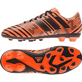 Buty piłkarskie adidas Nemeziz 17.4 FxG Jr S82460 pomarańczowe pomarańczowe