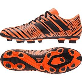 Buty piłkarskie adidas Nemeziz 17.4 FxG M S80610 pomarańczowe pomarańczowe