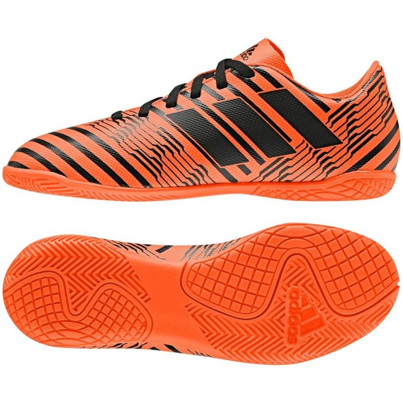 Buty halowe adidas Nemeziz 17.4 In Jr S82467 pomarańczowe wielokolorowe