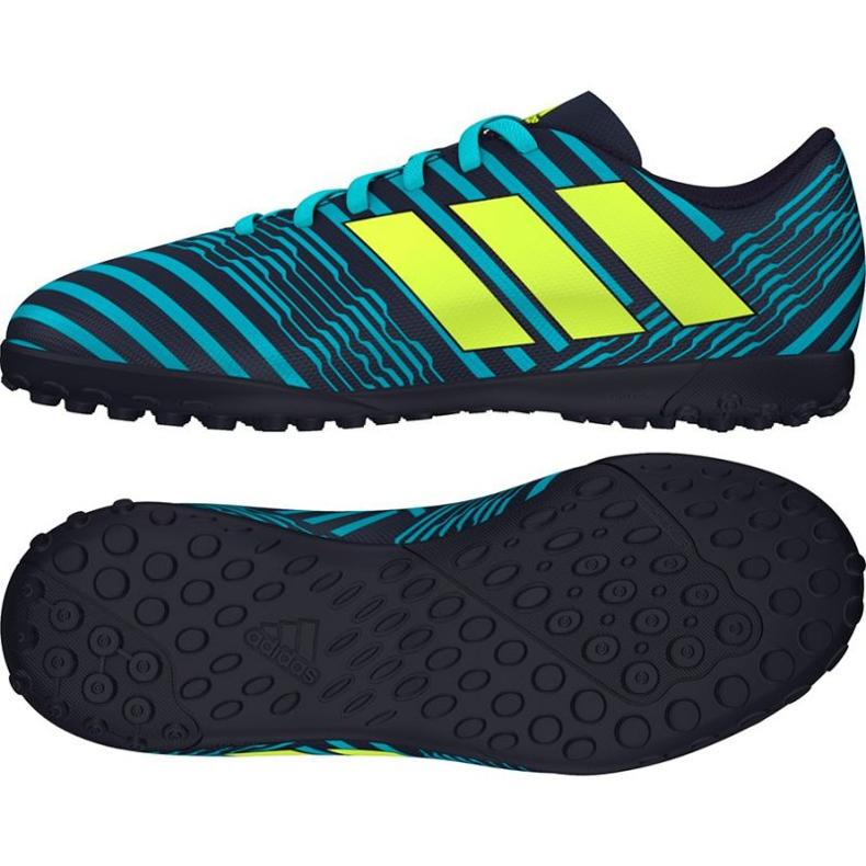 Buty piłkarskie adidas Nemeziz 17.4 Tf niebieskie
