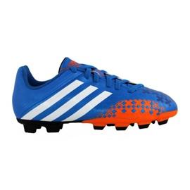 Buty piłkarskie adidas Predito Lz Fg Junior Q21735 niebieskie niebieskie