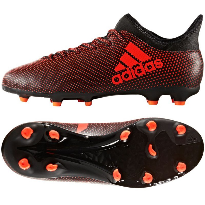 Buty piłkarskie adidas X 17.3 Fg Jr S82368 wielokolorowe czerwone