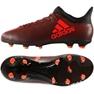 Buty piłkarskie adidas X 17.3 Fg Jr S82368 czerwone czarny, czerwony