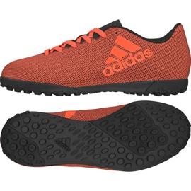 Buty piłkarskie adidas X 17.4 Tf Jr S82422 pomarańczowe wielokolorowe