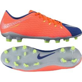 Buty piłkarskie Nike Hypervenom Phelon Iii Fg M 852556-409 pomarańczowe czarny, fioletowy, pomarańczowy