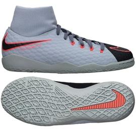 Buty halowe Nike HypervenomX Phelon Iii Df Ic Jr 917774-400 szary/srebrny szare