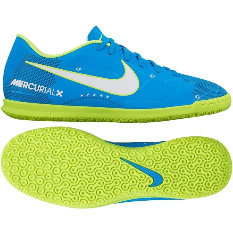 Buty halowe Nike MercurialX Vortex III NJR IC M 921518-400 niebieskie