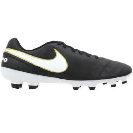 Buty piłkarskie Nike Tiempo Genio Ii Leather Fg M 819213-010 czarne czarne