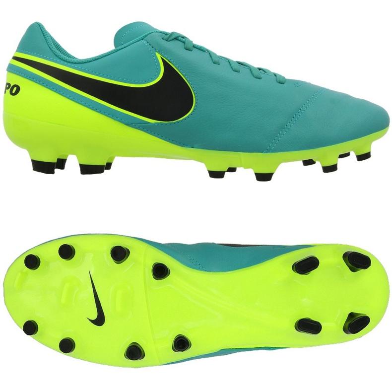 Buty piłkarskie Nike Tiempo Genio Ii Fg M 819213-307 czarne turkusowy