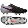 Buty piłkarskie Nike Tiempo Ligera Iv Fg M 897744-004 czarne czarny, szary/srebrny
