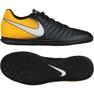 Buty halowe Nike TiempoX Rio Iv Ic M 897769-008 czarne czarny, żółty