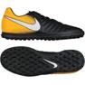 Buty piłkarskie Nike TiempoX Rio Iv Tf M 897770-008 czarne czarny, żółty