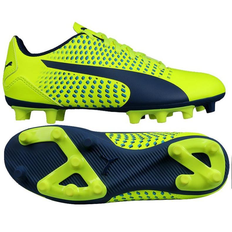 Buty piłkarskie Puma Adreno Iii Fg Safety Junior 104049 10 zielone złoty