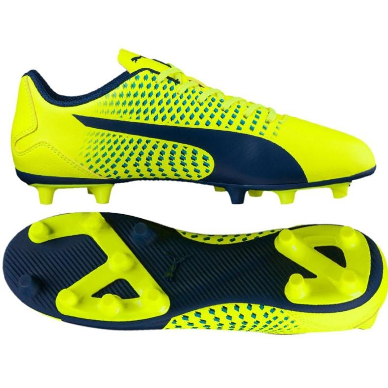 Buty piłkarskie Puma Adreno Iii Fg Safety M 104046 09 żółte żółte