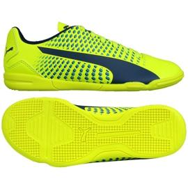 Buty halowe Puma Adreno Iii In Jr 104050 09 zielone żółte