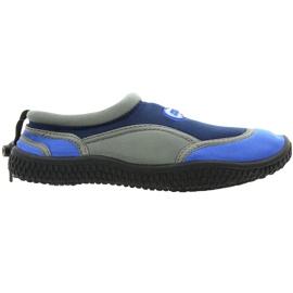 Buty plażowe neoprenowe Aqua-Speed Jr granatowo-szare