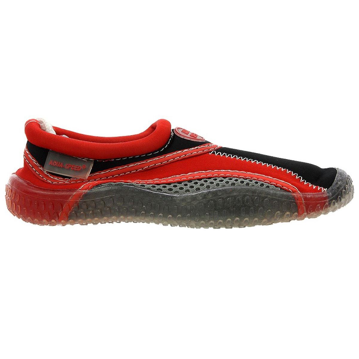 Buty plażowe neoprenowe Aqua Speed Jr czerwono szare ['wielokolorowy']