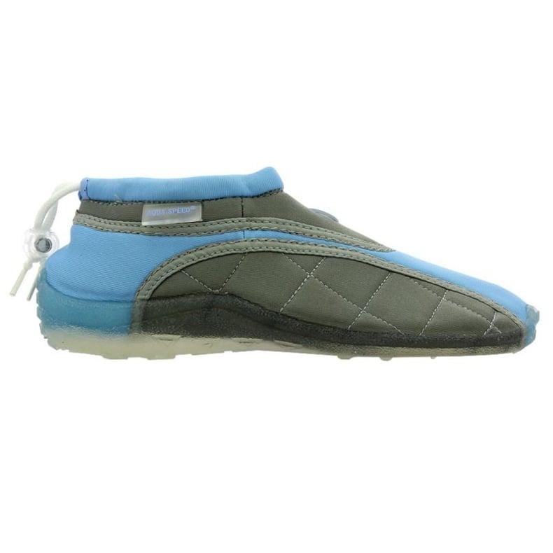 Buty plażowe neoprenowe Aqua-Speed Jr niebiesko-szare wielokolorowe