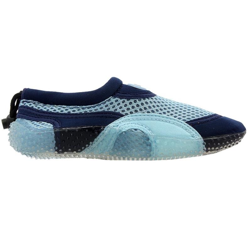 Buty plażowe neoprenowe Aqua-Speed Jr niebieskie wielokolorowe