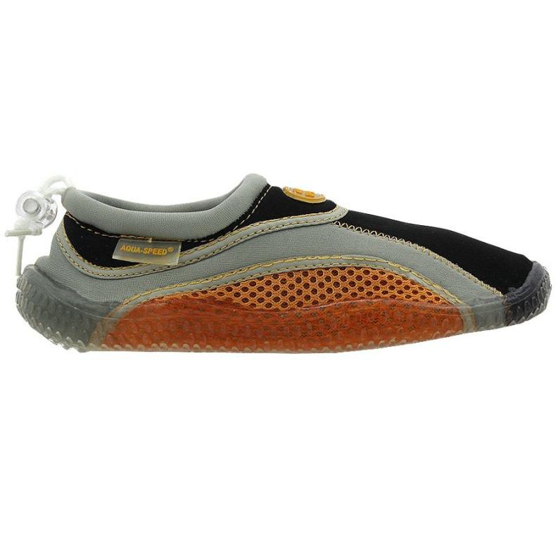 Buty plażowe neoprenowe Aqua-Speed Jr brązowe wielokolorowe wielokolorowe
