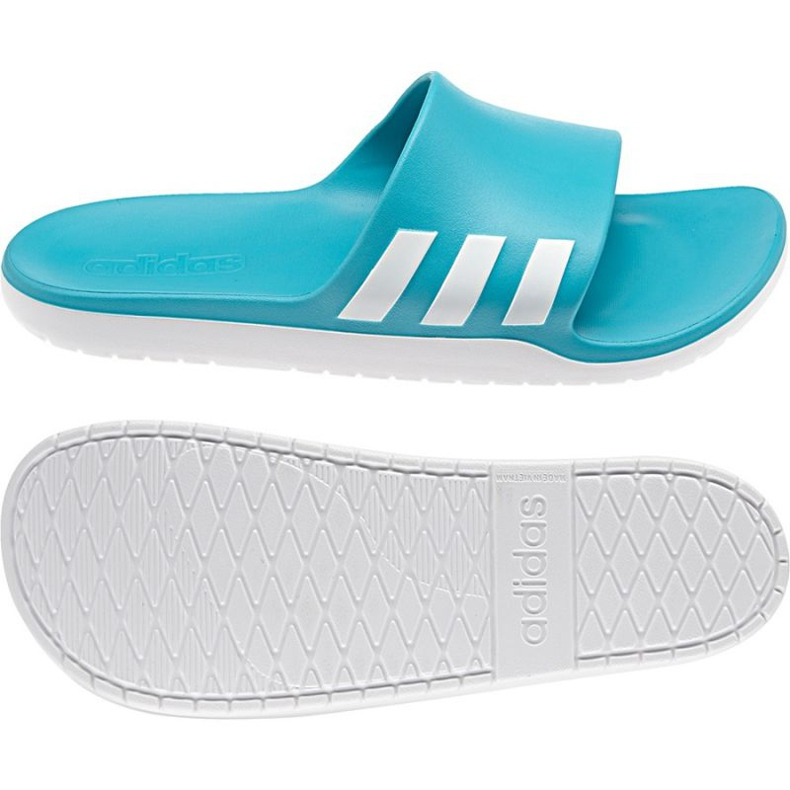 Klapki adidas Aqualette Cloudfoam U AQ2165 niebieskie