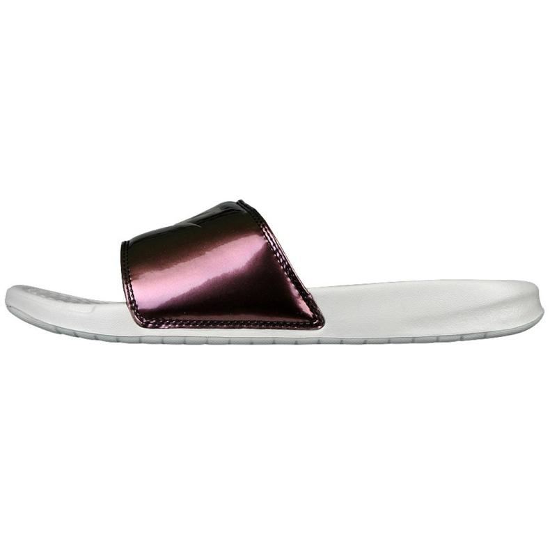 Klapki Nike Sportswear Benassi Just Do It Print W 618919-013 beżowy brązowe