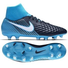 Buty piłkarskie Nike Magista Onda Ii Df Fg M 917787-414 niebieskie wielokolorowe