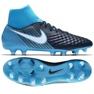 Buty piłkarskie Nike Magista Onda Ii Df Fg M 917787-414 niebieskie czarny, niebieski
