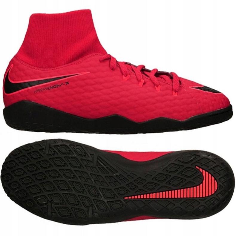 Buty halowe Nike HypervenomX Phelon czerwone