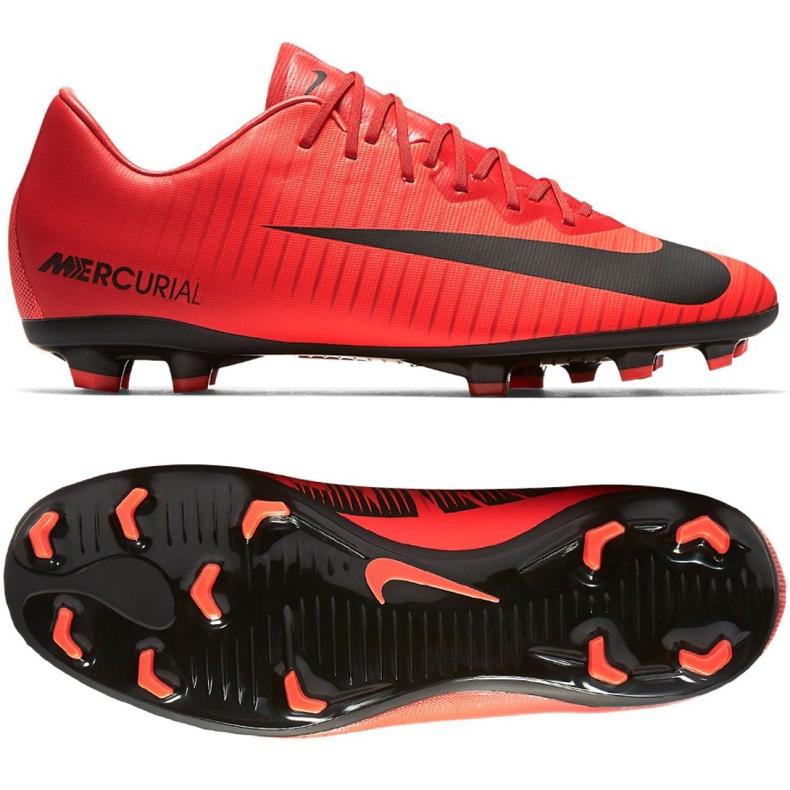 Buty piłkarskie Nike Mercurial Vapor Xi Fg Jr 903594-616 wielokolorowe czerwone